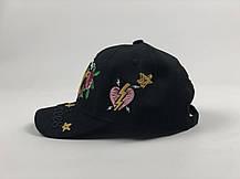 Кепка бейсболка New York Yankees Цветы черный цвет, золотое лого, фото 3