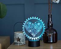 """Детский ночник - светильник """"Механическое сердце"""" 3DTOYSLAMP, фото 1"""