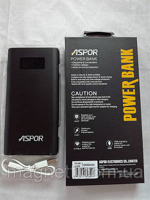 Внешний аккумулятор Power Bank Aspor Q388 10000mAh
