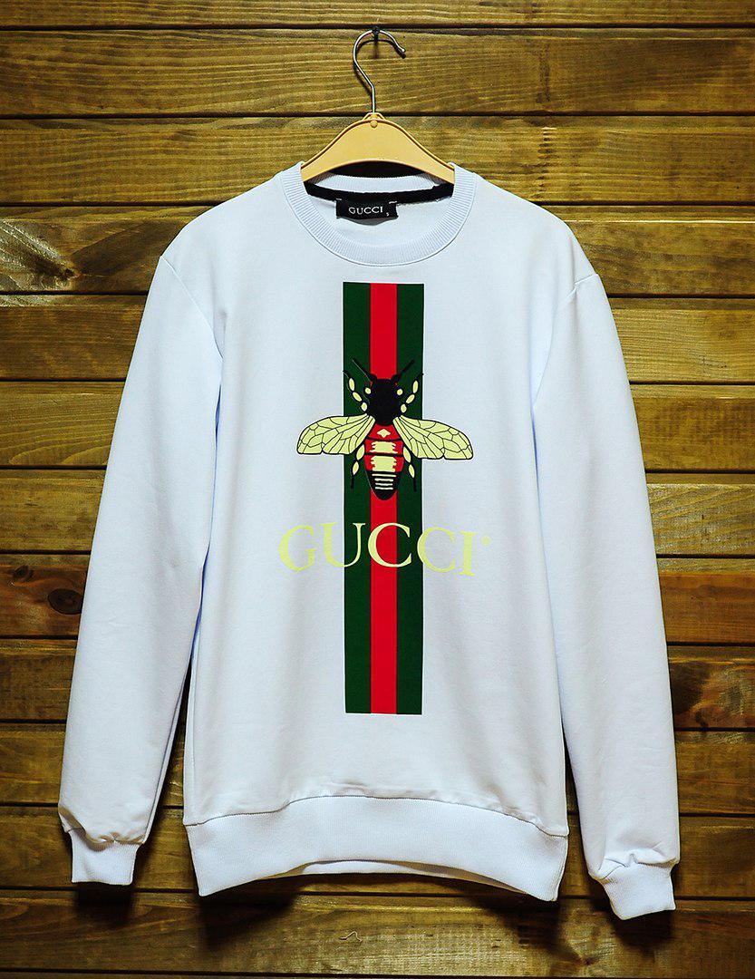 Мужской свитшот Gucci (белый), ТОП-реплика