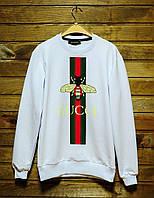 Мужской свитшот Gucci (белый), ТОП-реплика, фото 1