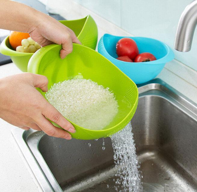 Большая миска 2 в 1  для фруктов, овощей, риса ( миска - дуршлаг )