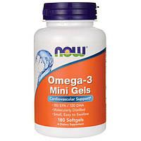 NOW Omega-3 Mini Gels 180 softgels