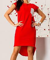 Сукня з кишенею жіноче (стрейч/ коттон), фото 1