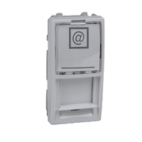 Центральная плата для коннекторов RJ45 Lucent&ATT(Avaya) 1-мод Schneider Electric Unica Белый (MGU9.461.18)