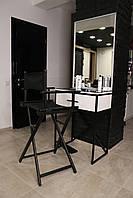 Стол для визажиста, бровиста и парикмахера (с ящиком, подсветкой, колёсиками)