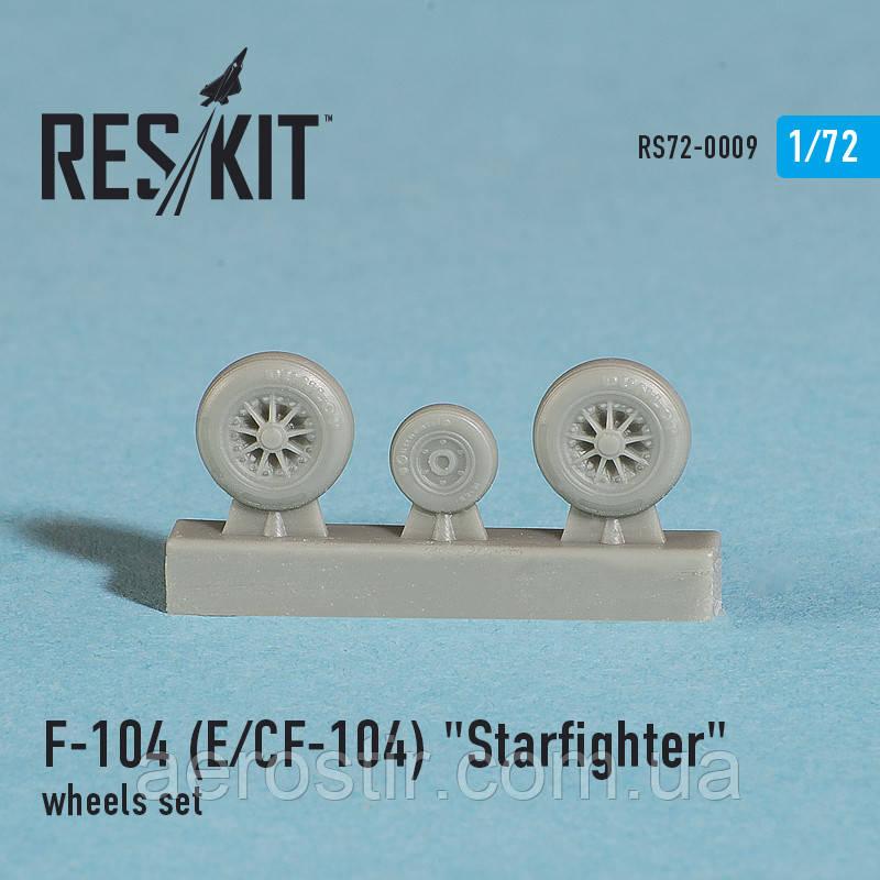 "Lockheed F-104 (E) CF-104 ""Starfighter"" wheels set 1/72 RES/KIT 72-0009"