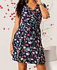 Платье на запах с цветочным принтом женское (супер софт)