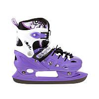 Коньки раздвижные Scale Sport. Violet фиолетовые  р. 29-33,34-37,38-41