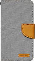 Чехол-книжка Goospery Canvas Diary Universal 4.0'-4.5' Gray, фото 1