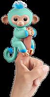 Интерактивная двухцветная обезьянка зелено-синий Эдди Wow Wee Fingerlings (W37204/3724)