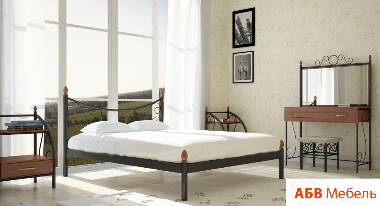 Кровать Калипсо 2 черная 140*200 (Металл дизайн)