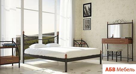 Кровать Калипсо 2 черная 120*200 (Металл дизайн), фото 2