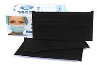 Маски медицинские одноразовые черные, упаковка 40 шт