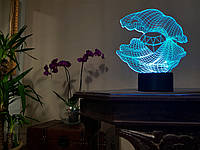 """Детский ночник - светильник """"Ракушка 2"""" 3DTOYSLAMP, фото 1"""