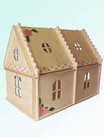 Кукольный домик 2эт. с росписью, фото 1