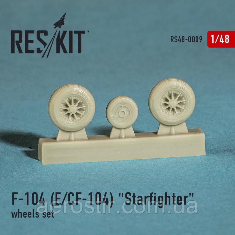 "Lockheed F-104 E, CF-104 ""Starfighter"" wheels set 1/48  RES/KIT 48-0009"