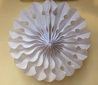 Веерный круг  из тишью 20 см. белый, фото 1