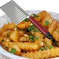 Нож для волнистой нарезки картофеля Фри