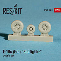 "Lockheed F-104 F/G""Starfighter"" wheels set 1/48 RES/KIT 48-0010"