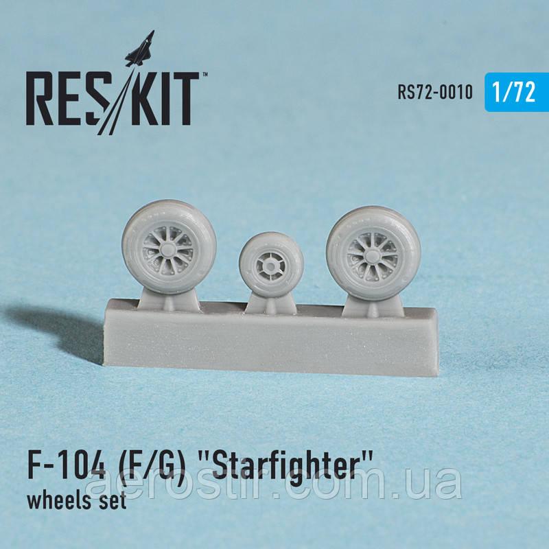 "Lockheed F-104 (F/G) ""Starfighter"" wheels set 1/72  RES/KIT 72-0010"