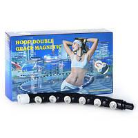 Магнитный обруч Хула Хуп hula hoop Massaging exerciser массажный MS 0596