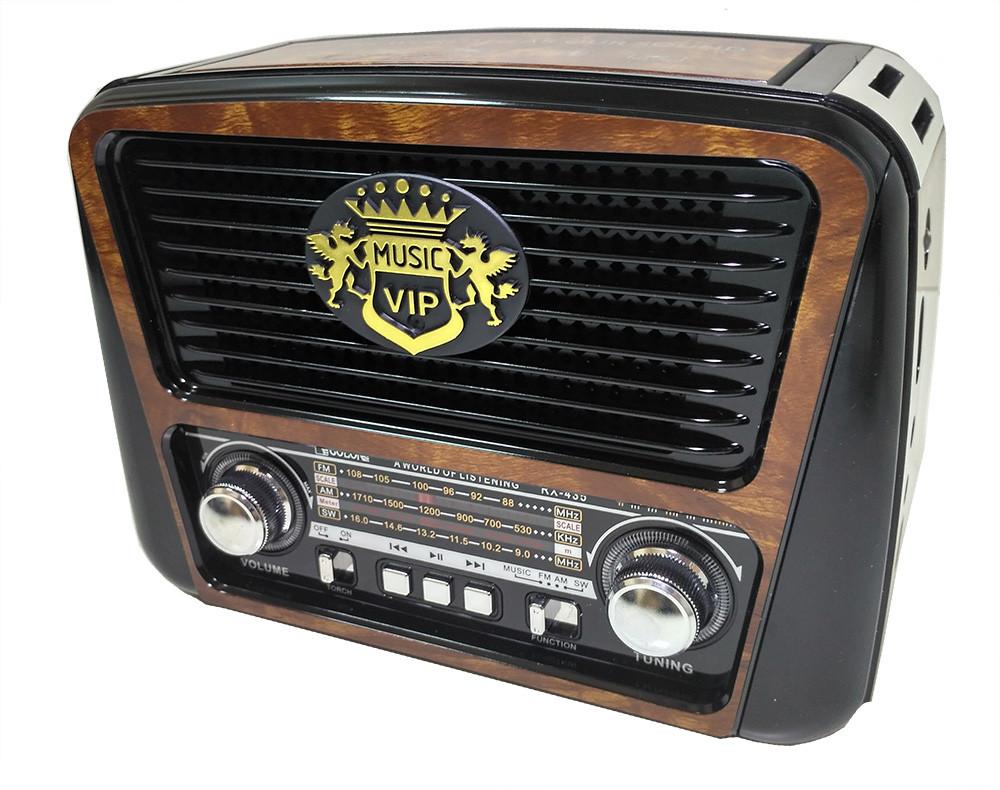 Радиоприемник колонка MP3 Golon RX-435 Wooden