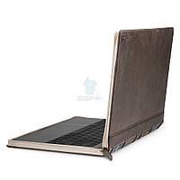 """Элитный кожаный чехол в виде книги Twelve South Leather Case BookBook Vol. 2 для MacBook 12"""" (2015 / 2017) - коричневый (12-1712)"""