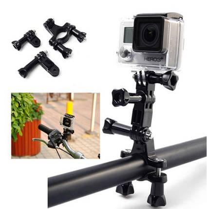 Крепление на трубу (руль) с диаметром 1.9cm-3.5cm  для экшн камер с переходниками, фото 2
