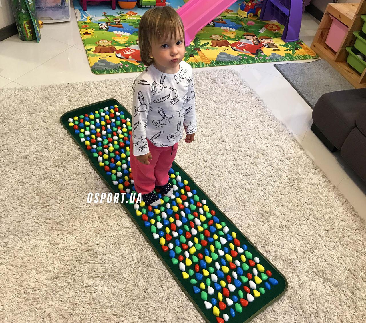 Массажный (ортопедический) коврик дорожка для детей с камнями Морской берег 150*40cm (FI-0130)