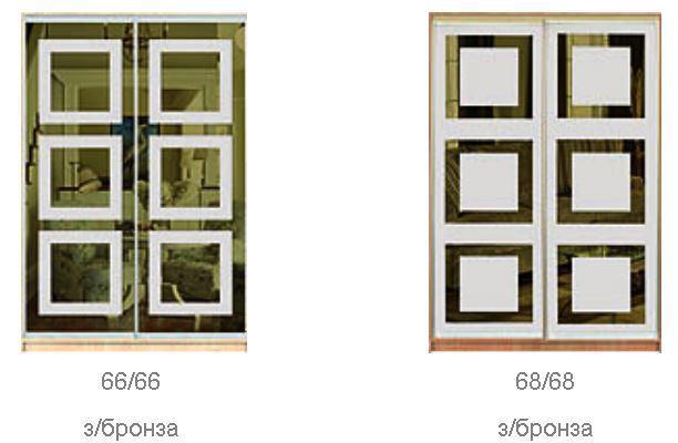 ШКАФЫ-КУПЕ с ФАСАДАМИ из тонированных зеркал с РИСУНКАМИ пескоструй (фото 4)