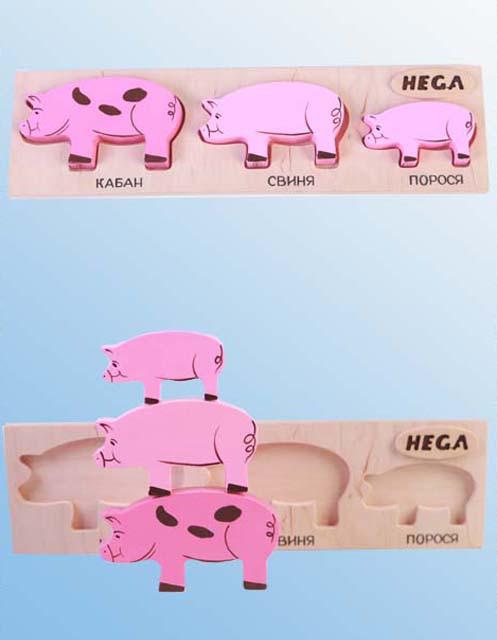 Набор рамка-вкладыш HEGA Свиньи