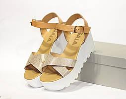 Шикарные кожаные сандалии GAIA, Италия-Оригинал