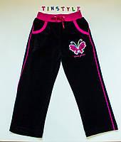 Велюрові спортивні штани для дівчинки на ріст 104 см