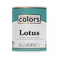 Латексная краска для стен и потолков Lotus Colors 0,9л, 2,7л, 9л