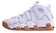 Мужские кроссовки Nike Air More Uptempo White Ocean