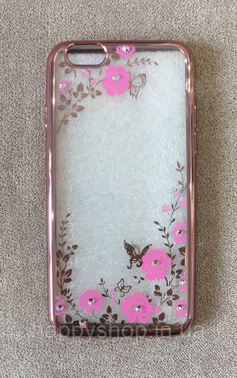 Силиконовый чехол-накладка для iPhone 6 Plus (Pink Diamond)