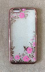 Силіконовий чохол-накладка для iPhone 6 Plus (Pink Diamond)