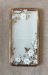 Силиконовый чехол-накладка для iPhone 6 Plus (White Diamond)