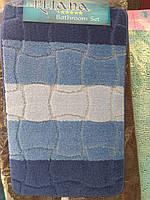 Набор ковриков для ванная+туалет , фото 1