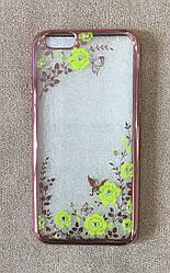 Силиконовый чехол-накладка для iPhone 6 Plus (Green Diamond)
