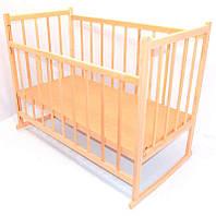 Детская кроватка-качалка деревянная №3 (5759)