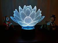"""3D лампа """"Лотос"""" 3DTOYSLAMP, фото 1"""