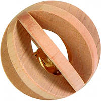 Шарик для грызунов Trixie деревянный со звонком (6187)