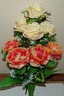 М-311 Букет роза с камелией 9 голов 43х9 см