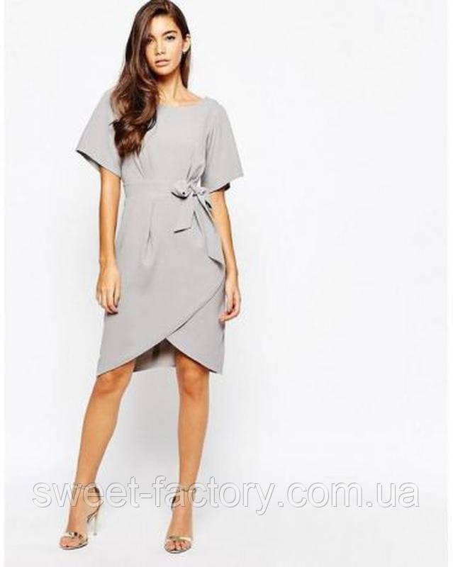 Платье с рукавами‑кимоно и завязкой спереди Closet London из англии