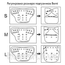 Подгузник многоразовый c вкладышем Berni  Berni (3-15 кг), фото 2