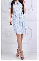 Платье c ромашками женское (стрейч/лён), фото 1
