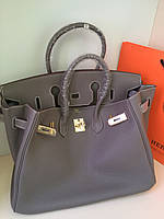 Изумительная женская сумка Гермес Биркин 35 см мокко (реплика) 56531545c74ce