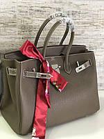 Роскошная женская сумка Гермес Биркин 35 см серая (реплика) ff9969a62502b